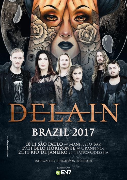 Brazil, Chile: Delain announces additional South America shows