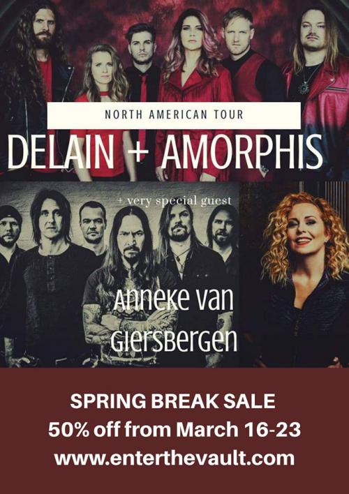 SPRING SALE 50% off DELAIN USA tour tickets